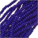 Czech Seed Beads Size 11/0 Royal Blue Opaque (1 Hank)
