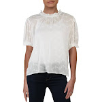 Free People Womens Letters To Juliet Cotton Eyelet Peasant Top Ivory