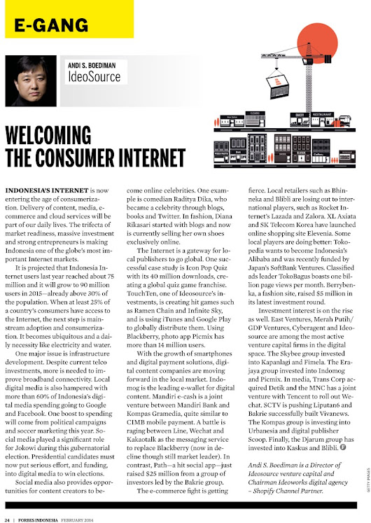 Welcoming the Consumer Internet Era in Indonesia