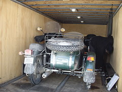 Towing the Ural to the dealer
