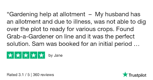 Jane gave Grab a Gardener 5 stars. Check out the full review...