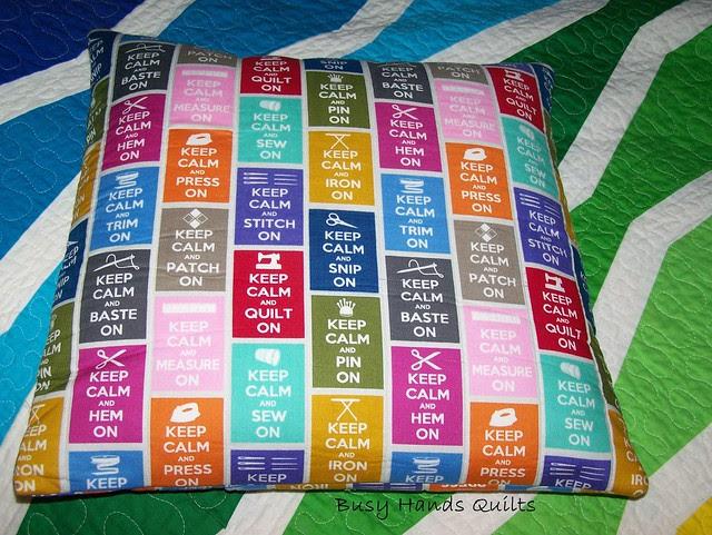 Keep Calm Pillow Cover