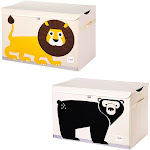 3 Sprouts Collapsible Toy Chest Storage Bin Bundle with Lion and Bear (2 Pack) at Spreetail (VMinnovations | VM Express)