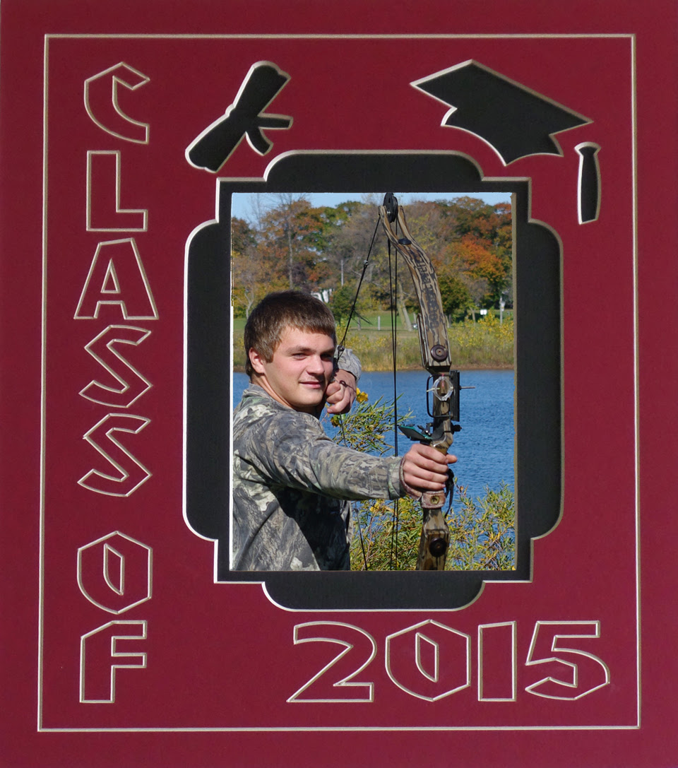 Customizable Double Class Of 2016 Graduation Photo Mat Collage Frame