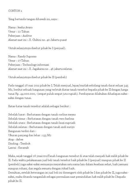 Surat Perjanjian Jual Beli