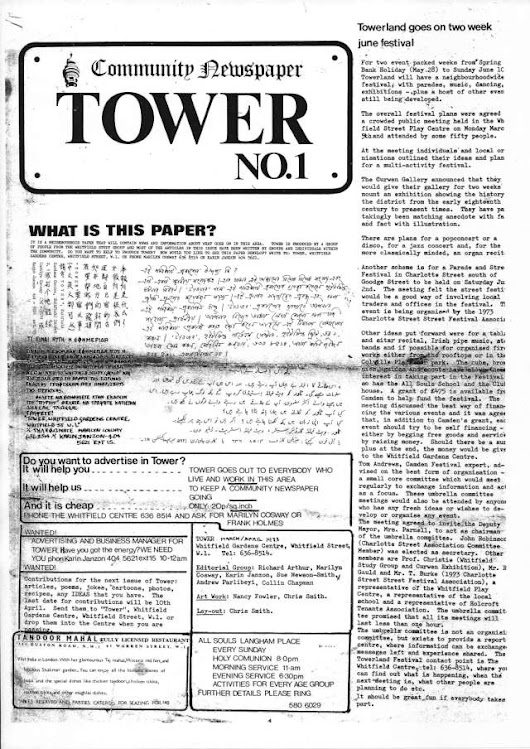 Tower Community Newspaper no 1 March 1973