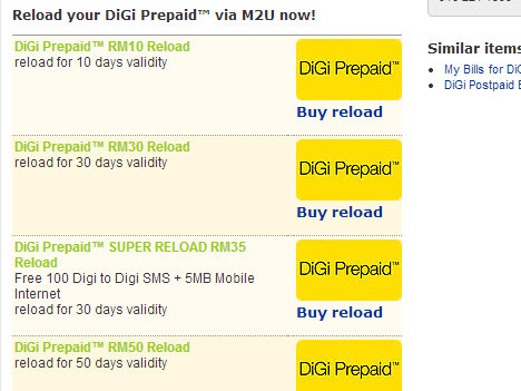 How to reload prepaid card mobile using Maybank