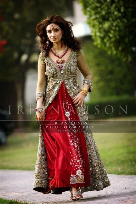 51 Inspirational Red Pakistani Bridal Outfits by {Irfan