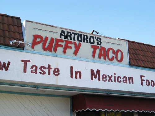 Lunch at Arturo's Puffy Taco