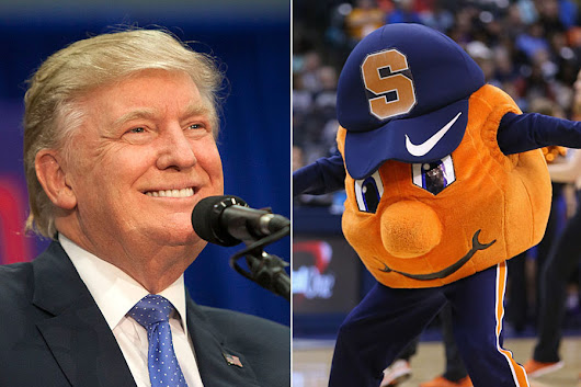 Orange man Donald Trump losing in home of the Orangemen (Syracuse) is kind of ironic