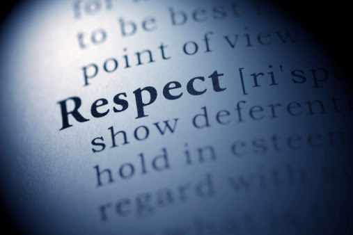 Respect is not automatically given