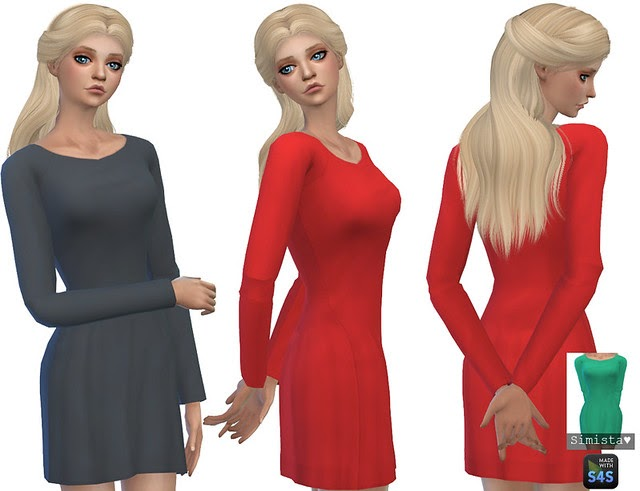 Long Sleeve Little Dresses Simista A Little Sims 4 Blog