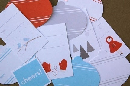 Printable Holiday Gift Tags - Just Add Paper
