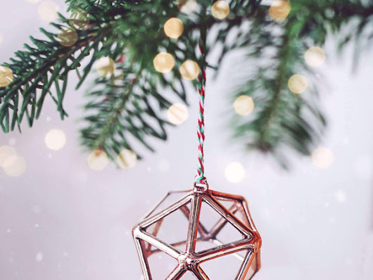 Scandinavian Style Geometric Christmas Ornaments | Unique Holiday Gifts by Waen