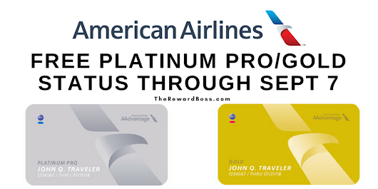 Free American Airlines Platinum Pro / Gold Status [TARGETED] - The Reward Boss