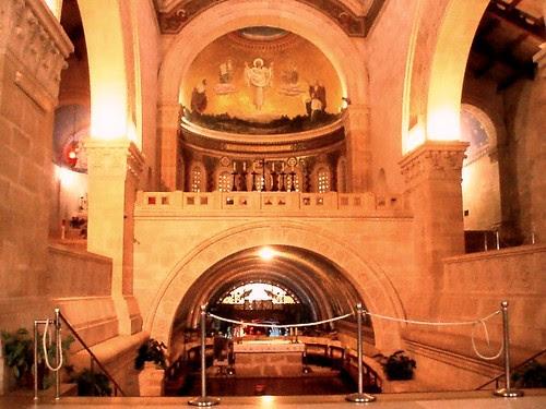 Los varios niveles de la Basílica