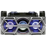 Jensen - 45W Bluetooth All-In-One Hi-Fi Music System with PA - Black/Charcoal Gray