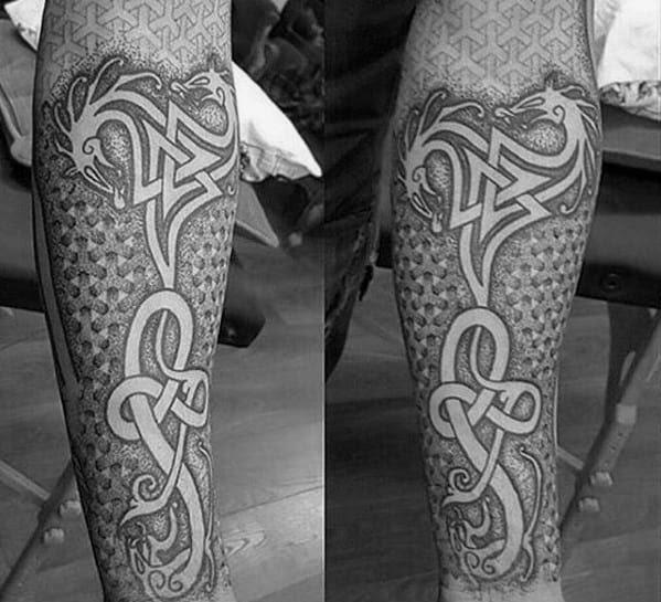 50 Celtic Dragon Tattoo Designs For Men Knot Ink Ideas