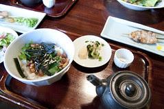 地鶏茶漬け, 亀の井別荘 湯の岳庵, 湯布院