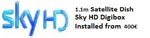 1.1m satellite dish installations for uk tv sky hd costa blanca spain
