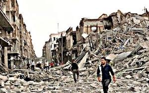 Destruction in Aleppo.