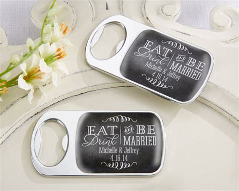 Personalized Silver Bottle Opener with Epoxy Dome   Eat