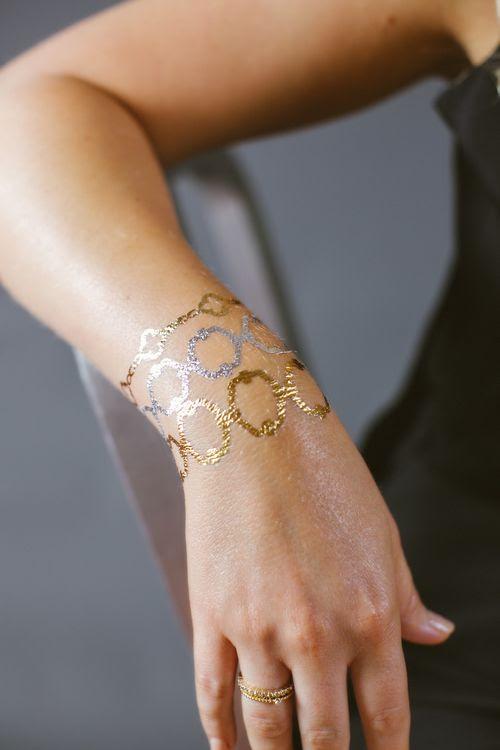 Flash Tattoos - Metallic Gold / Silver Jewelry Tattoos