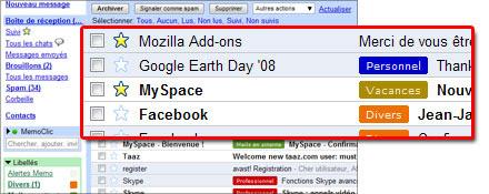 Le suivi de messages dans Gmail