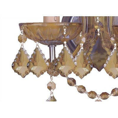 Crystorama Bohemian Crystal Candle Wall Sconce in Antique Brass ...