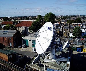 English: BBC satellite communications centre TVC