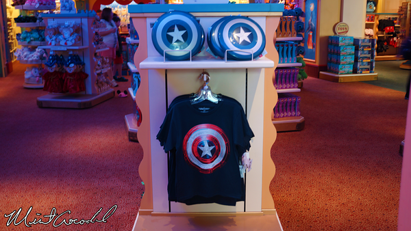 Disneyland Resort, Disney California Adventure, Buena Vista Street, Elias and Company, Captain America