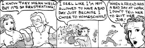 Home Spun comic strip #135