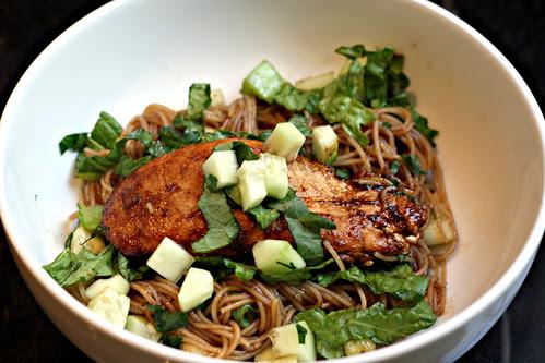 Sticky Chicken Noodle Salad