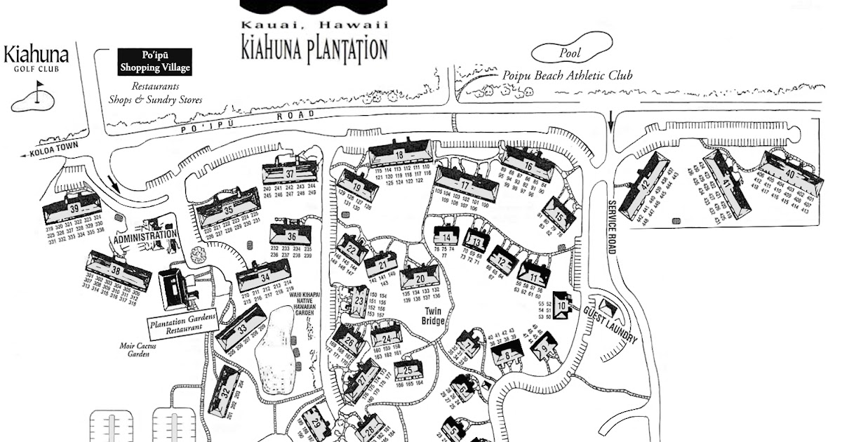 Kiahuna Plantation Map Gadgets 2018