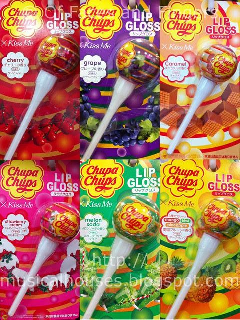 chupa chups lipgloss flavours w
