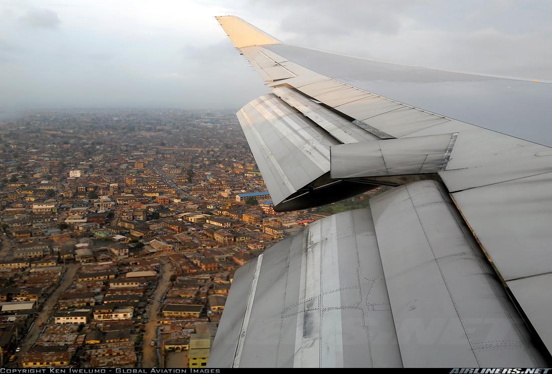 British Airways 747 in Lagos