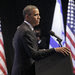 President Obama speaking at the Jerusalem Convention Center in Israel on Thursday.