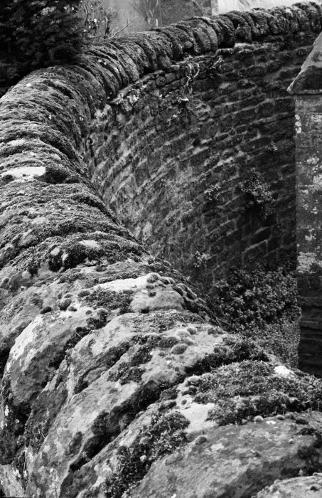 Church wall b&w