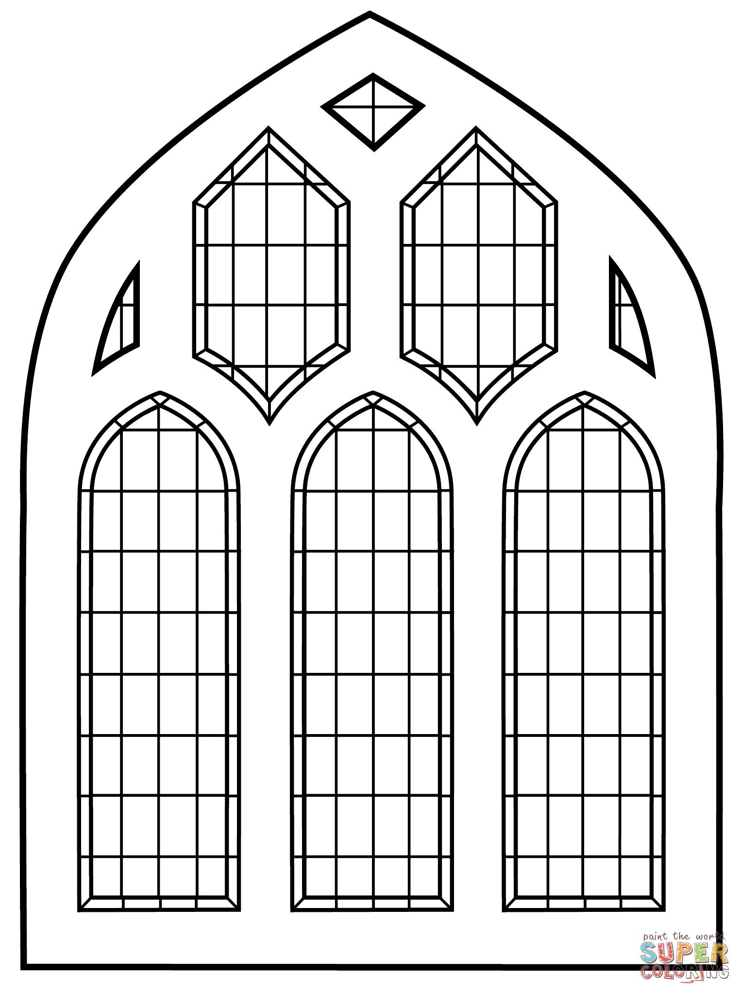 Ausmalbild Buntglas Fenster Ausmalbilder Kostenlos Zum Ausdrucken