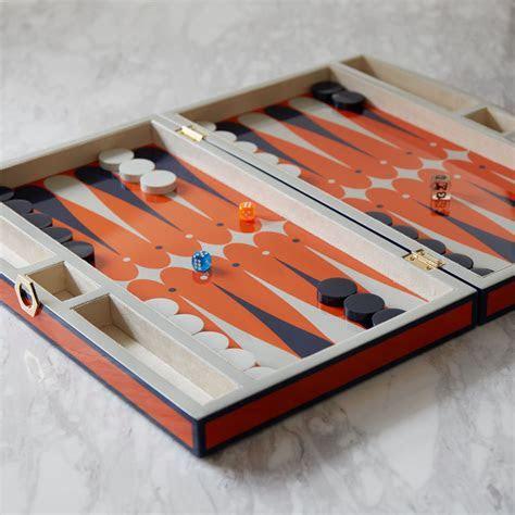 Lacquer Orange Backgammon Set   Modern Decor   Jonathan Adler