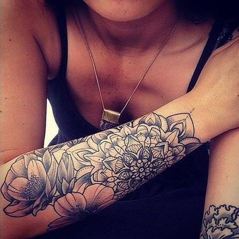 Mandala Arm Tattoo For Women