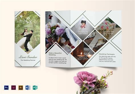 Wedding Planner Brochure Design Template in PSD, Word