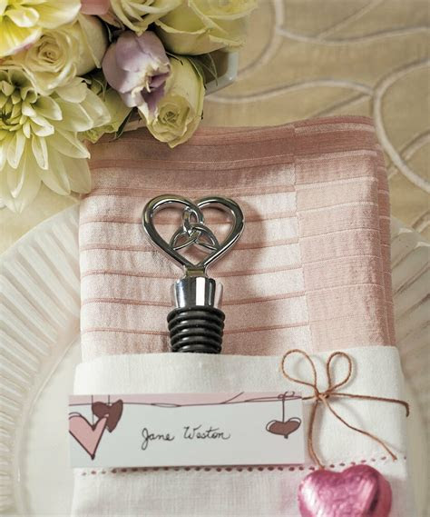 Love Knot Chrome Wine Bottle Stoppers Bridal Shower
