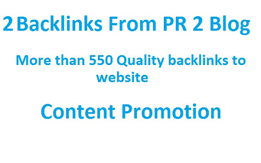 I will promote and provide backlink on PR2 website for $5
