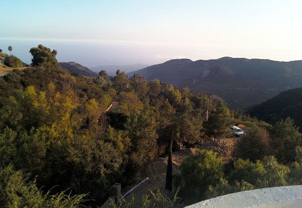 The Pacific Ocean as seen from the mansion.