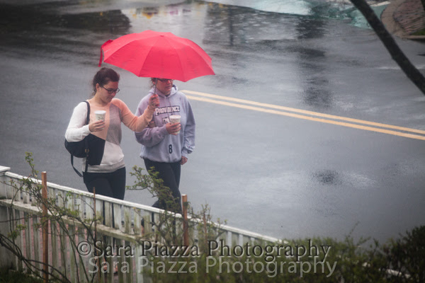 Red umbrella, Edgartown News, Sara Piazza Photography, Vineyard Photographer, rainy day