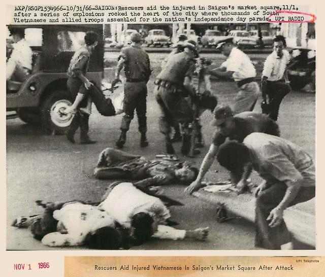 1966 SAIGON -  Terrorist Attacks in Saigon -  Press Photo
