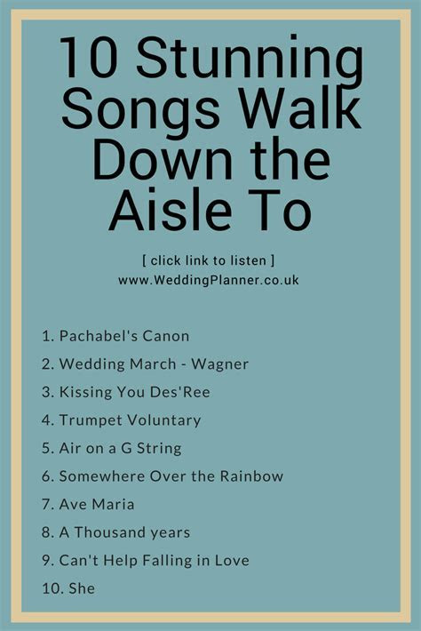 10 amazing wedding songs to walk down the aisle to that