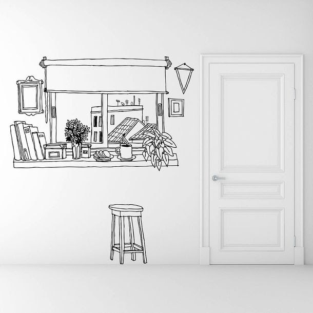 Coffee Window Wall Sticker