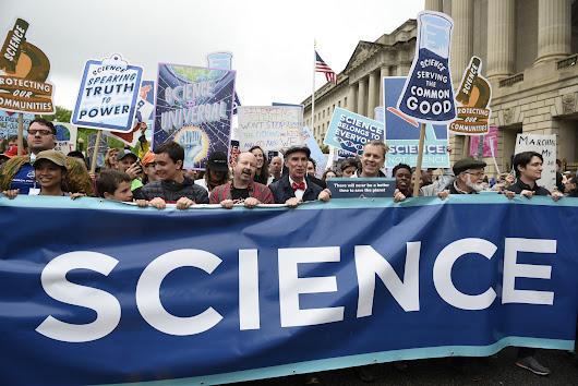 Kellan Baker, transgender man and LGBT activist, addresses March for Science